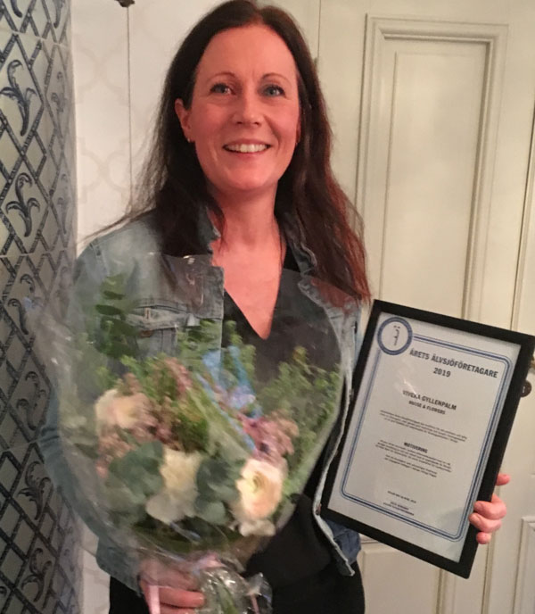 Viveka Gyllenpalm - Årets Älvsjöföretagare 2019